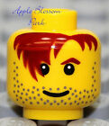 NEW Lego Pirate MINIFIG HEAD Male Boy w/Red Hair Black Beard -Castle/Police/City