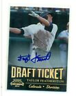 2011 PLAYOFF CONTENDERS TAYLOR FEATHERSTON DRAFT TICKET PROSPECT RC AUTO