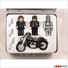 Terminator T 2 Collector Tin Block Cube Endoskeleton and Motorcyle figures