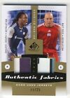 Shalrie Joseph Matt Reis 2011 UD SP Game Used Soccer DUAL PATCH Card 11 25