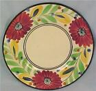Colorful Flowers Cake Cookie Plate Hand Painted Japan Vintage PRETTY