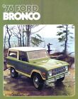 BRONCO 1976 Sales Brochure 76