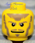NEW Lego Pirate MINIFIG HEAD -Castle Kingdoms Knight w/Brown Beard -Police Agent