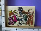 Precious Country Nativity rubber stamps 30K