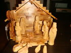OLIVE WOOD NATIVITY SET HAND CARVE SOUVENIR GIFT FROM THE HOLY LAND