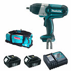 MAKITA 18V BTW450 IMPACT WRENCH 2 BL1830 BATTERIES DC18RC CHARGER