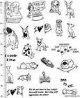 Full Sheet of Rubber  83 Dog Rubber Stamp Dies Labrador Chihuahua  MORE