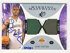 Gary Payton 2003-04 UD SPx WINNING MATERIALS Jersey Buyback Autograph Card 04 21