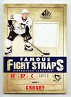 Sidney Crosby 2010-11 UD SP Game Used Famous Fight Straps Patch SP # 10 10 RARE