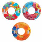 Intex Groovy Color Inflatable Tropical Flower Transparent Tube 3 Pack 58263EP