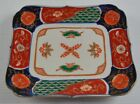 Vintage Painted Asian Plate Wall Plaques Fish Scales Flowers Writing On Back