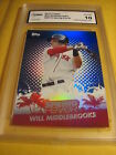 WILL MIDDLEBROOKS RED SOX 2013 TOPPS SPRING FEVER # SF12 GRADED 10