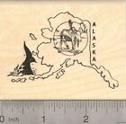 Alaska State Rubber Stamp K21104 Wood Mounted Moose and Right Whale