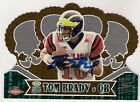 TOM BRADY 2000 PACIFIC CROWN ROYALE ON CARD AUTO DIECUT SP RC #110 SWEET INVEST