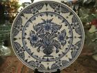Beautiful Large 13 inch Platter Charger Delfts Holland Hand Painted Quality Art