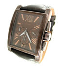 GUESS CHRONOGRAPH BROWN LEATHER MENS WATCH U0010G3