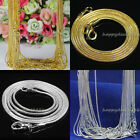 20pcs 50pcs Silver Plated Gold Plated 12mm Snake Chain Necklace 16 18 20 24