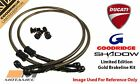 Goodridge GOLD Ducati 907Ie 91-94 Front SS Braided Brake Lines Hoses