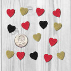 Tiny Embroidered Iron on Heart Patches Appliques Red Bkor Gold USA Seller 1503