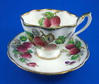 Strawberries Queen Anne Fruit Series  Tea Cup and Saucer Set
