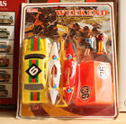 #Vintage# Mercedes 220 Kit Holiday Camper Plastic Toy Lucky Hong Kong Tin Japan