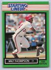 1989  MILT THOMPSON - Kenner Starting Lineup Card - PHILADELPHIA PHILLIES