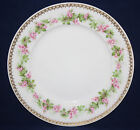ANTIQUE AHRENFELDT LIMOGES DINNER PLATE, FLORAL AND GOLD BAND