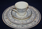 MINTON, ENGLAND PENROSE 4 PIECE SET, DINNER SALAD PLATE,CUP AND SAUCER