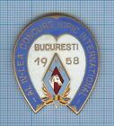 Old Equestrian Horse Racing International Contest Medal Bucharest Romania 1958