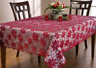 LACE TABLECLOTH POINSETTIA RED