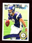 25) 2011 Topps #238 Christian Ponder Rookie Minnesota Vikings Football Cards Lot