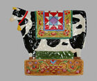Jim Shore BARNYARD Cow Large Colorful Handpainted Embossed Platter NEW DISC HTF