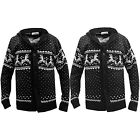 MENS CARDIGAN CHRISTMAS WINTER PATTERN AUTUMN BLACK CHARCOAL HOODED KNITTED
