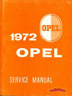 1972 OPEL GT SHOP MANUAL SERVICE REPAIR BOOK MANTA ASCONA 1900 WORKSHOP 72 OPEL