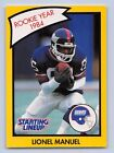 1990  LIONEL MANUEL - Starting Lineup Card - New York Giants - Vintage - (YELLOW