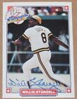 SIGNED 1993 NABISCO ALL STAR AUTOGRAPHS WILLIE STARGELL PIRATES AUTO W COA