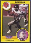 1991  ANDRE RISON - Kenner Starting Lineup Card - SLU - ATLANTA FALCONS