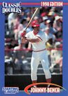 1998  JOHNNY BENCH - Starting Lineup Card - Classic Doubles - CINCINNATI REDS
