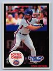 1990  HOWARD JOHNSON - Kenner Starting Lineup Card - New York Mets - (BLUE)