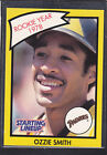 1990  OZZIE SMITH - Kenner Starting Lineup Card - San Diego Padres  (Yellow)