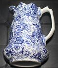 Vintage JAMES KENT England Blue OLD FOLEY 18th Century Chintz 7