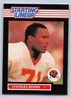 1989   CHARLES MANN - Kenner Starting Lineup Card - WASHINGTON REDSKINS