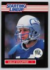 1989  KELLY STOUFFER - Kenner Starting Lineup Card - SEATTLE SEAHAWKS