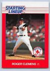 1988  ROGER CLEMENS - Kenner Starting Lineup Card - BOSTON RED SOX