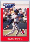 1988  DEVON WHITE - Kenner Starting Lineup Card - CALIFORNIA ANGELS