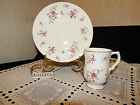 VINTAGE ROYAL VICTORIA FINE BONE CHINA~ENGLAND~ROSEBUD CUP & BUFFET PLATE
