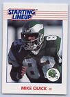 1988  MIKE QUICK - Kenner Starting Lineup Card - PHILADELPHIA EAGLES