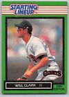 1989  WILL CLARK - Kenner Starting Lineup Card - SAN FRANCISCO GIANTS