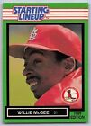 1989  WILLIE McGEE - Kenner Starting Lineup Card - ST. LOUIS CARDINALS