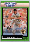 1989  BOB WALK - Kenner Starting Lineup Card - PITTSBURGH PIRATES